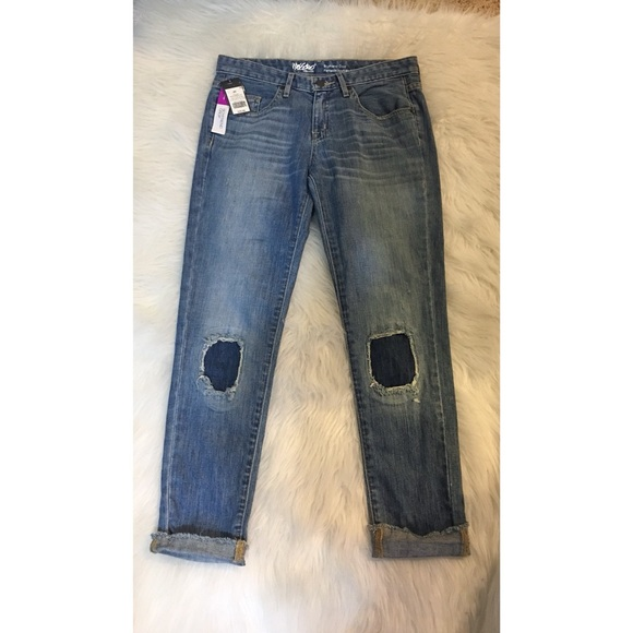 Mossimo Supply Co. Denim - Cropped Boyfriend Jeans BRAND NEW